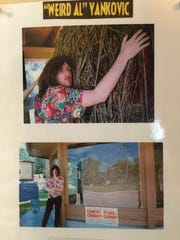 """Weird Al"" Yankovic made a stop in Darwin to see the twine ball in the early 1990s after recording his song ""Biggest Ball of Twine in Minnesota."""