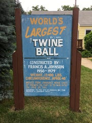 Francis Johnson started rolling twine in 1950. Twenty-nine years later, he wound up with a 12-foot-tall ball of twine, 40 feet in circumference and weighing 17,400 pounds.