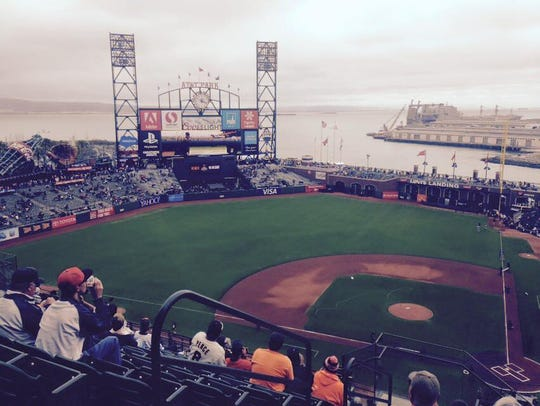 One of the best views in baseball at AT&T Park in San Francisco, California.