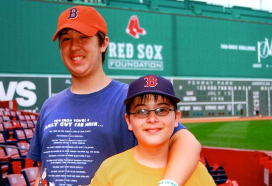 My brother, Brady, and me at Fenway Park in 2006.