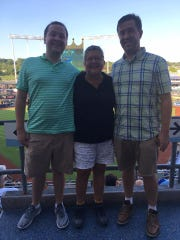 The Weiler family at Kauffman Stadium in Kansas City this summer.