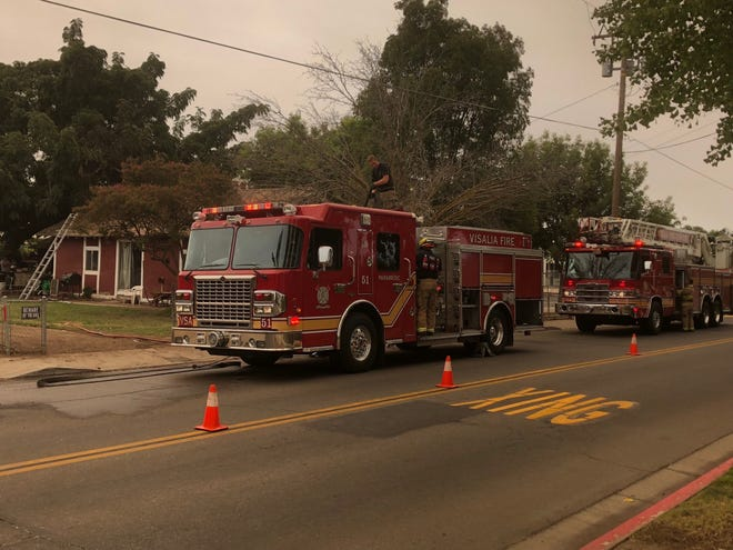 Visalia firefighters were called to a house fire near Four Creeks Elementary School on Wednesday morning.