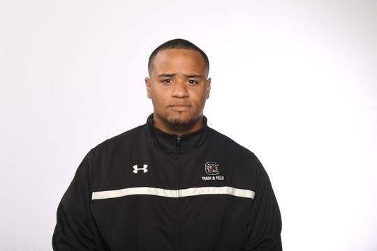 Eric Favors, a North Rockland graduate, is a thrower on the University of South Carolina men's track and field team.