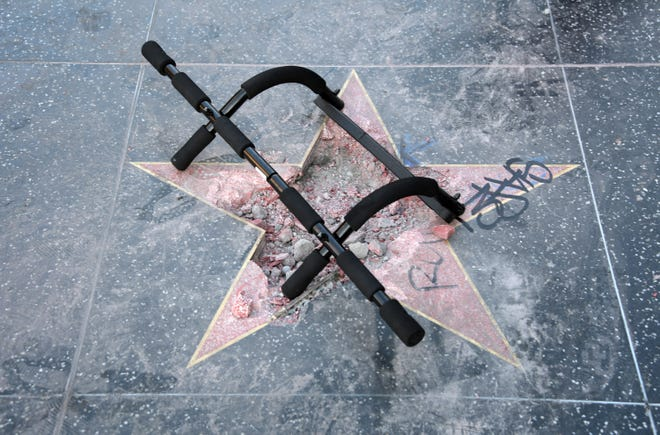 President Trump's Hollywood Walk of Fame star was attacked with a pickaxe early Wednesday morning.