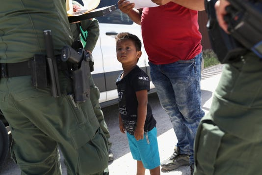 Border Patrol Agents Detain Migrants Near Us Mexico Border