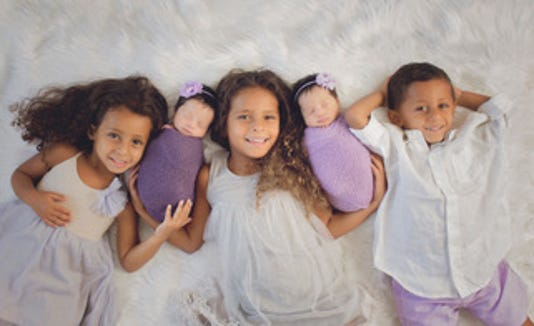 Hala Sabry-Elnaggar and Mohamed Elnaggar's children, from left: Evangeline, Athena, Syriana, Farrah and Ramzey.