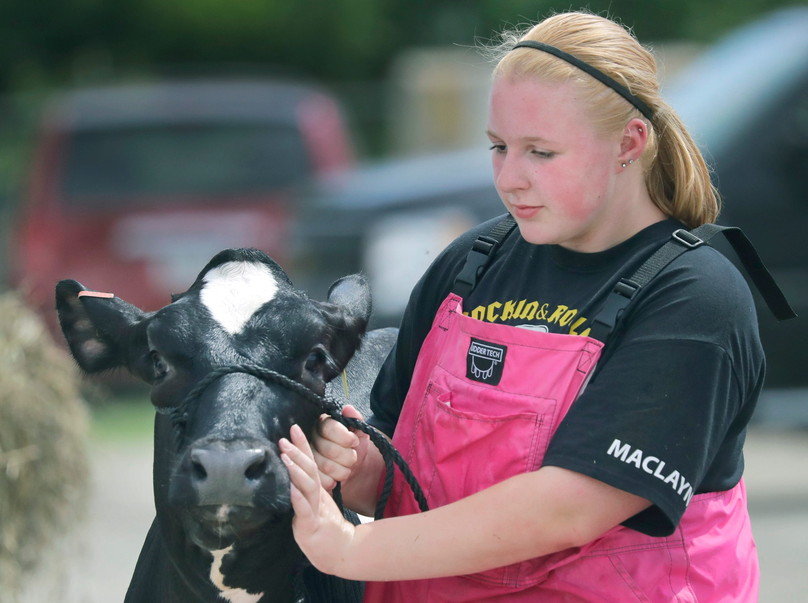 Maclayne Gilson during the Outagamie County Fair on Wednesday, July 25, 2018 in Seymour, Wis. 