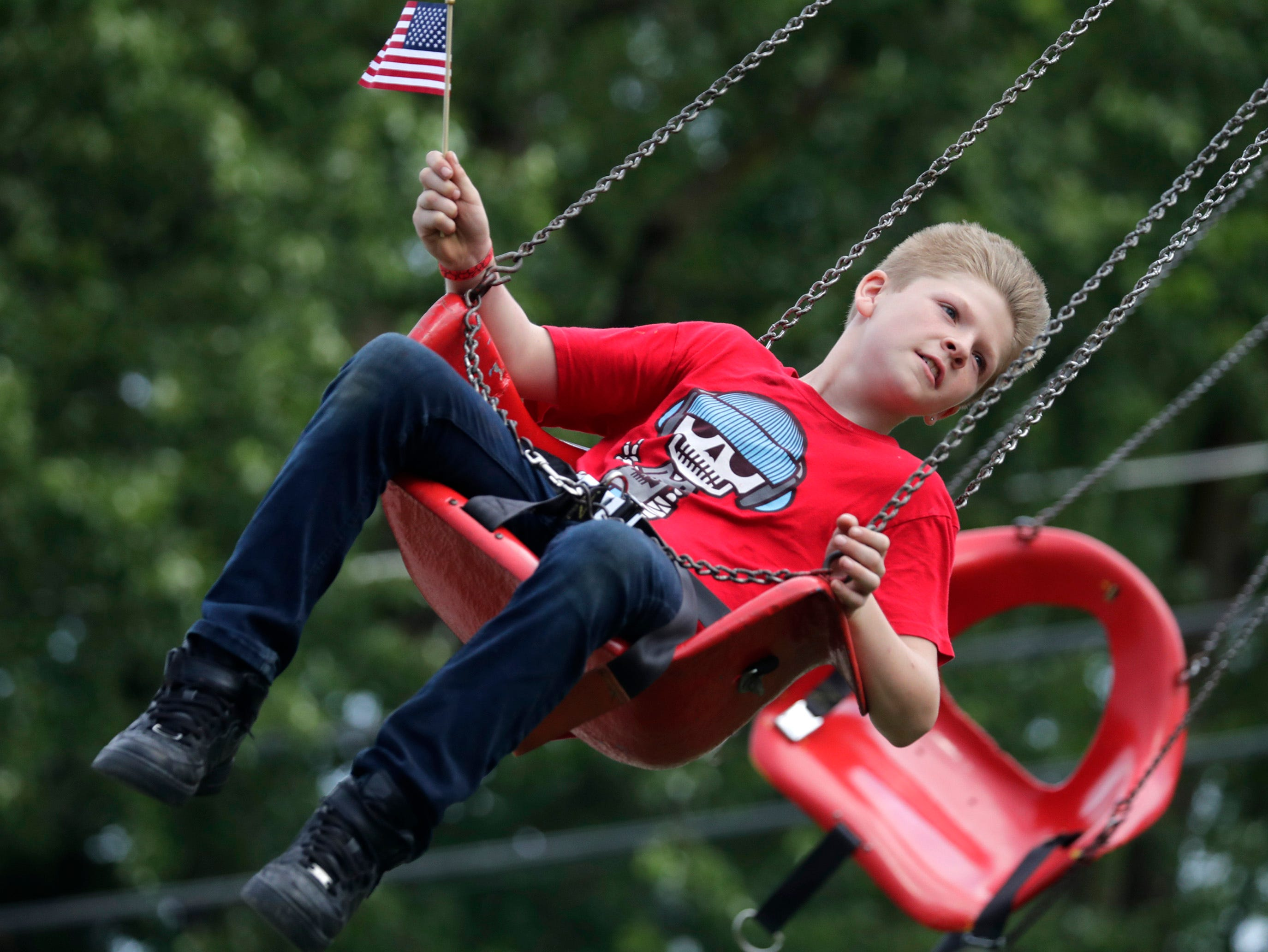 Cameron Baenen, Shiocton, during the Outagamie County Fair on Wednesday, July 25, 2018 in Seymour, Wis. 
