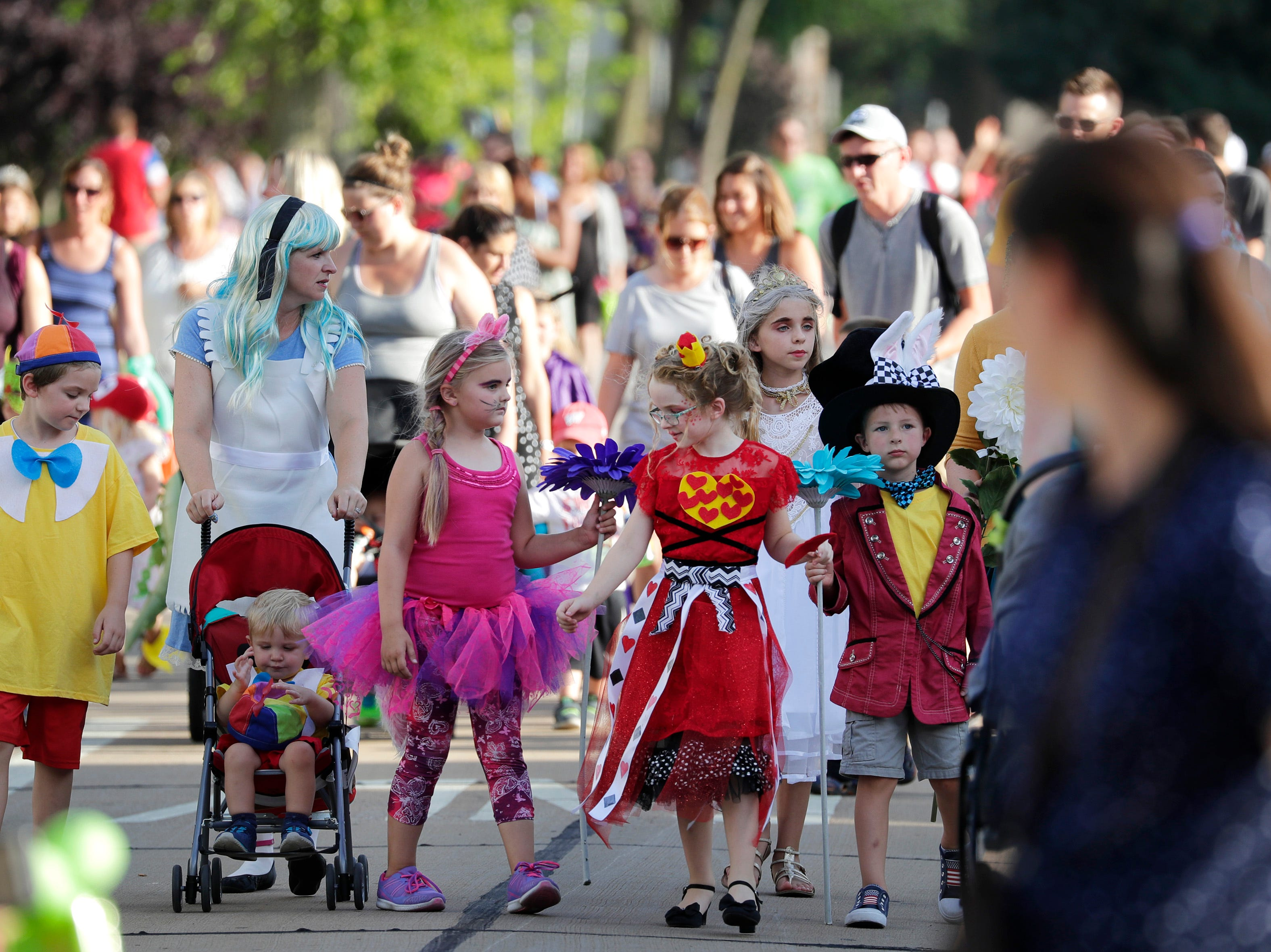 The 10th annual ChildrenÕs Parade Wednesday, July 25, 2018, in Appleton, Wis. Danny Damiani/USA TODAY NETWORK-Wisconsin