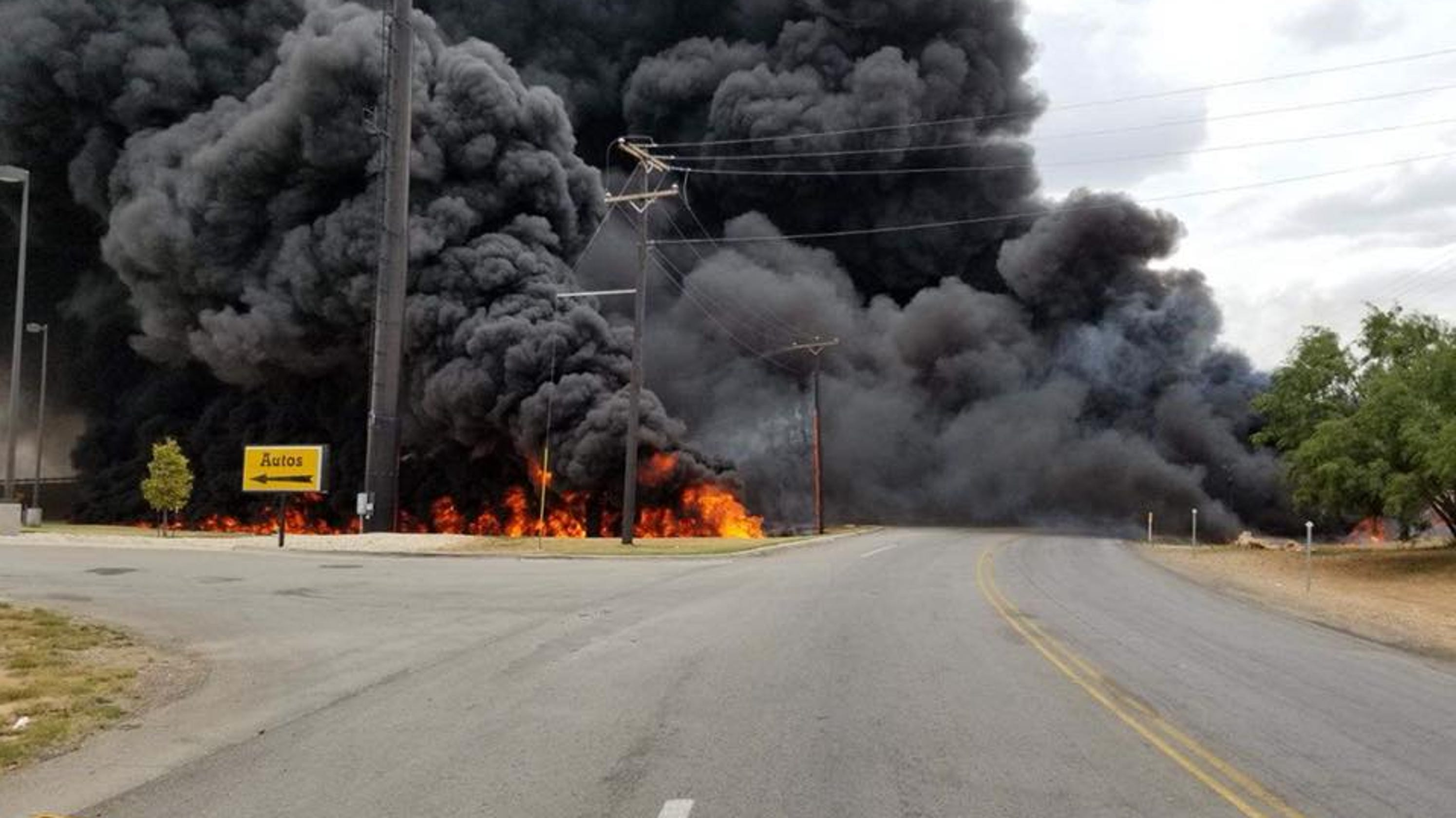 Update: Video shows moments after I-20 tanker caught fire