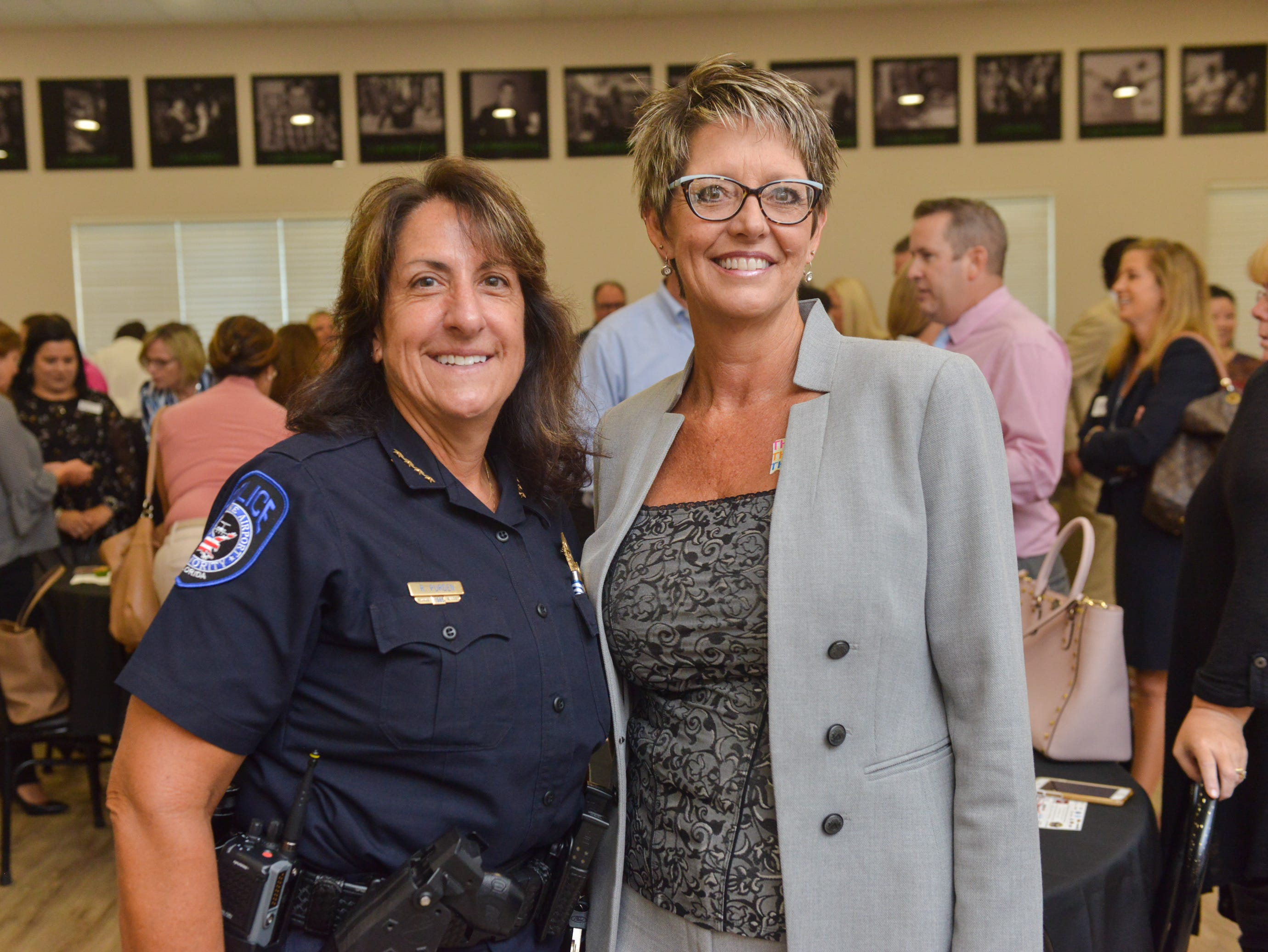 Renee Purden and Michelle Brown during the Women of Excellence Gathering at Promise in Brevard sponsored by the Melbourne Regional Chamber.