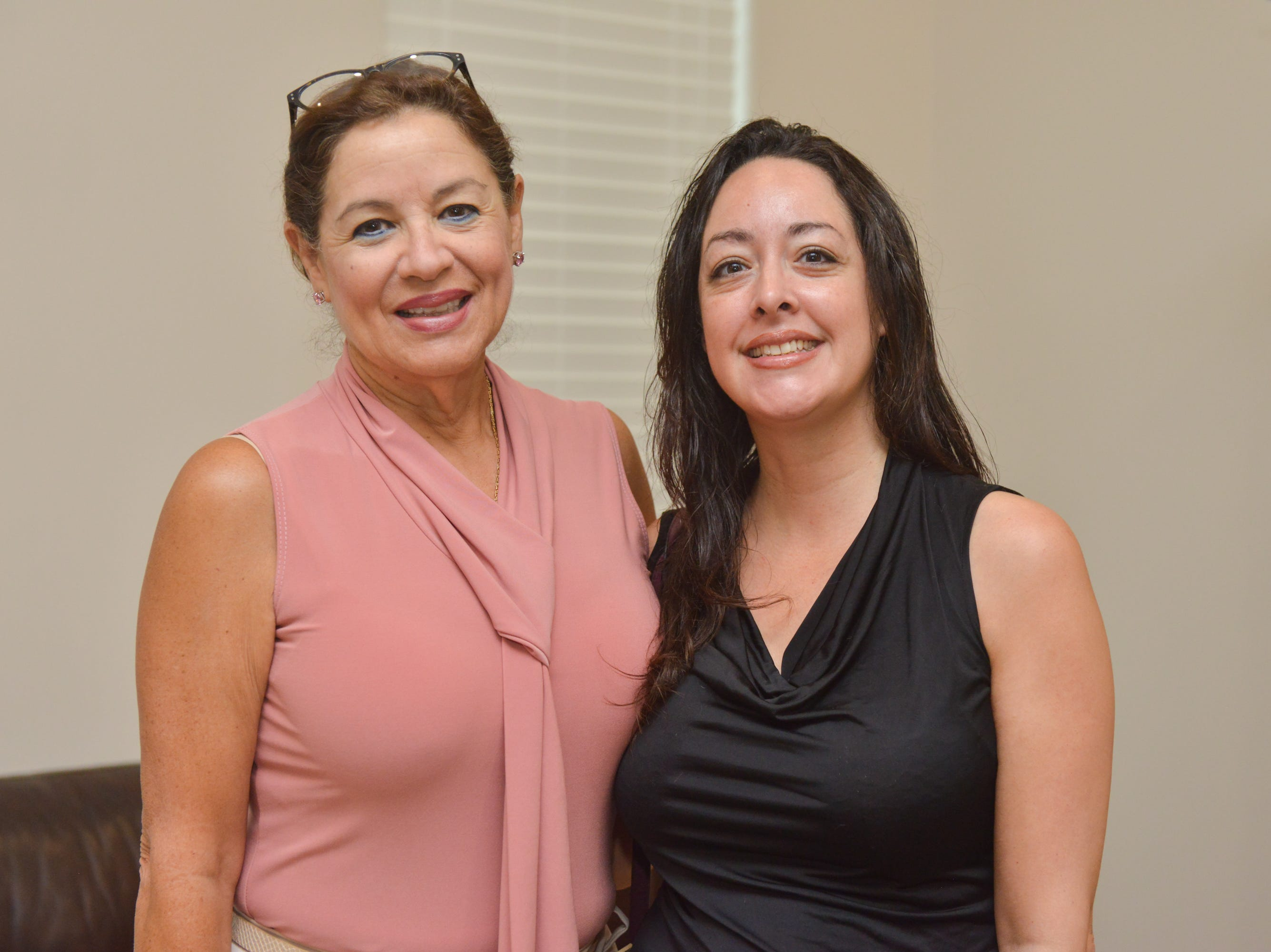 Trina Downey and Evelyn Salazar during the Women of Excellence Gathering at Promise in Brevard sponsored by the Melbourne Regional Chamber.