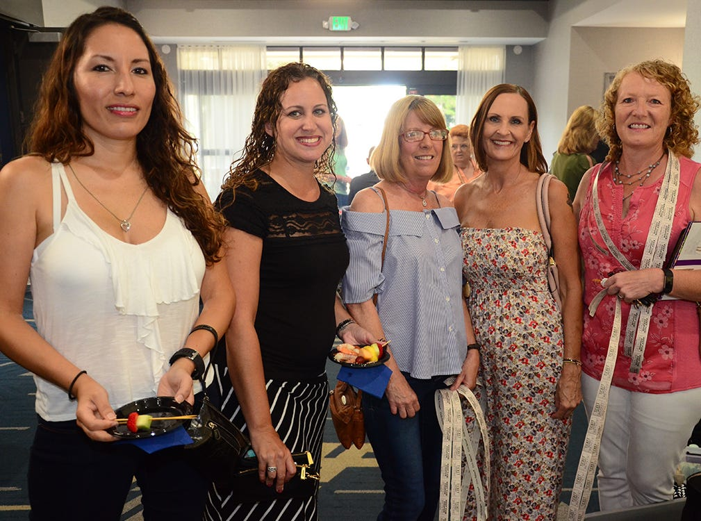 Lila Peterson, Diane Vidal, Colleen Sikes, Susan Ellicott, and Amy Yager were ready for the show begin Saturday night as they attended the Men on Fire held at the Holiday Inn, Viera.