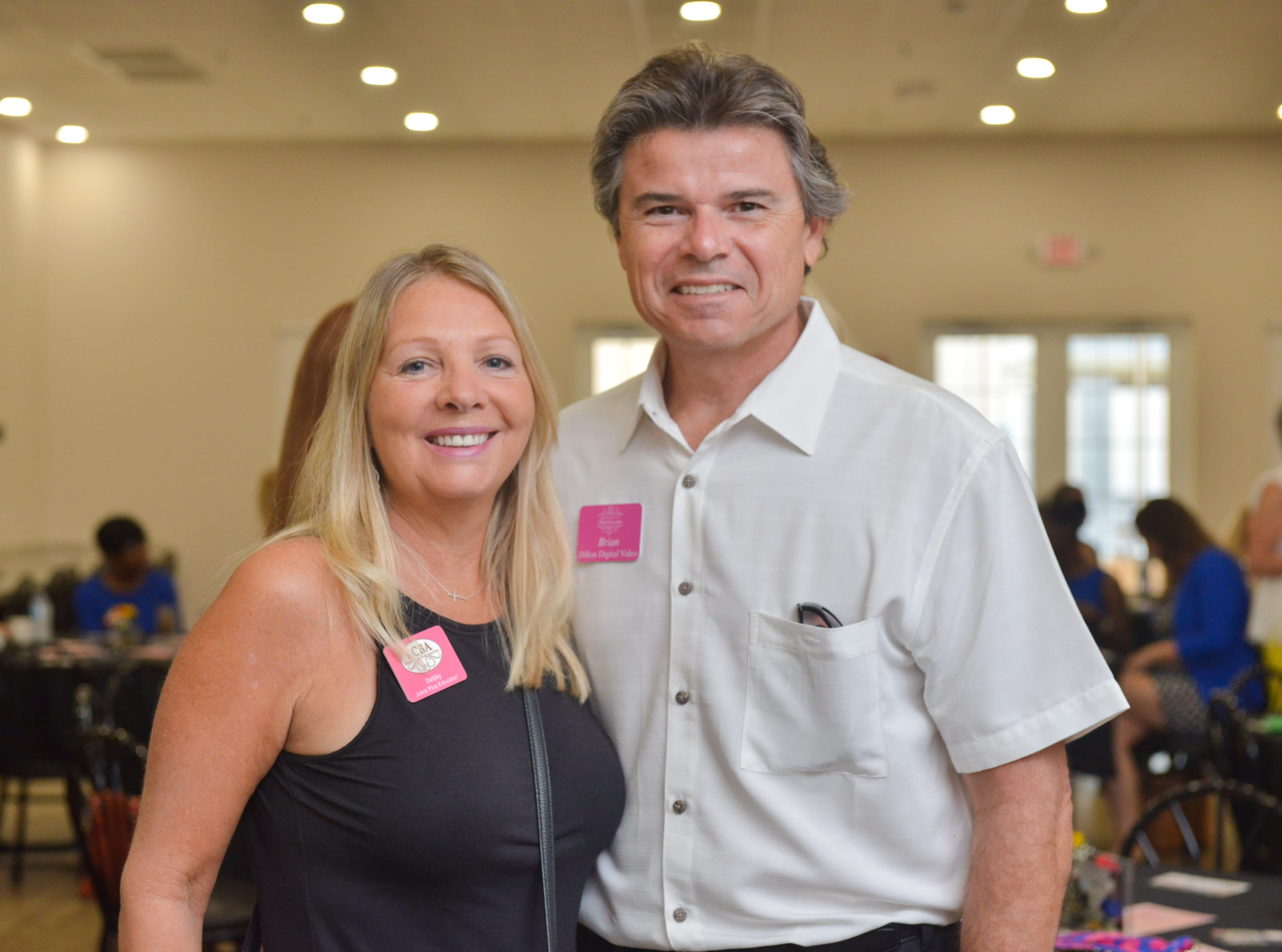 Debbie Dillon and Brian Dillon during the Women of Excellence Gathering at Promise in Brevard sponsored by the Melbourne Regional Chamber.