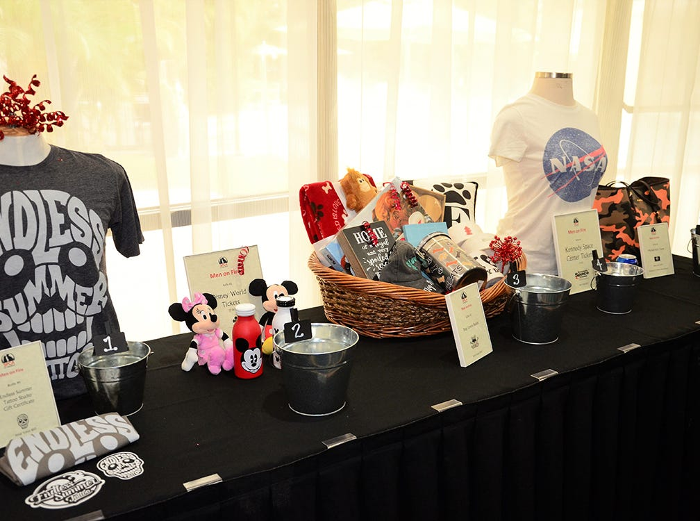 Awesome items up for auction Saturday night at the Men on Fire benefit for the SPCA held at the Holiday Inn in Viera.