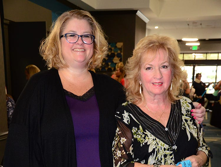 Mother and daughter night was special Saturday night as Vanessa Hoover and Bobbie Hoover attended the Men on Fire benefit at the Holiday Inn, Viera.