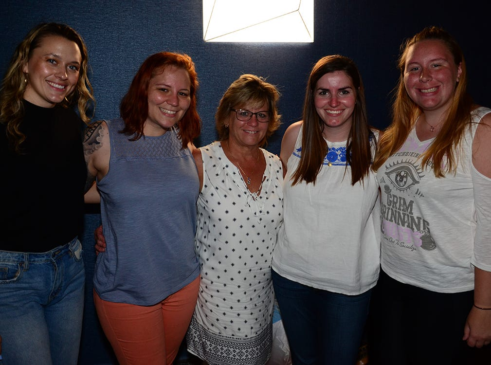 Kelsey O'Connor, Kelly Hambel, Debbie Hambel, Frederika Jones, and Emily York posed Saturday night as they attended the Men on Fire benefit for the SPCA.