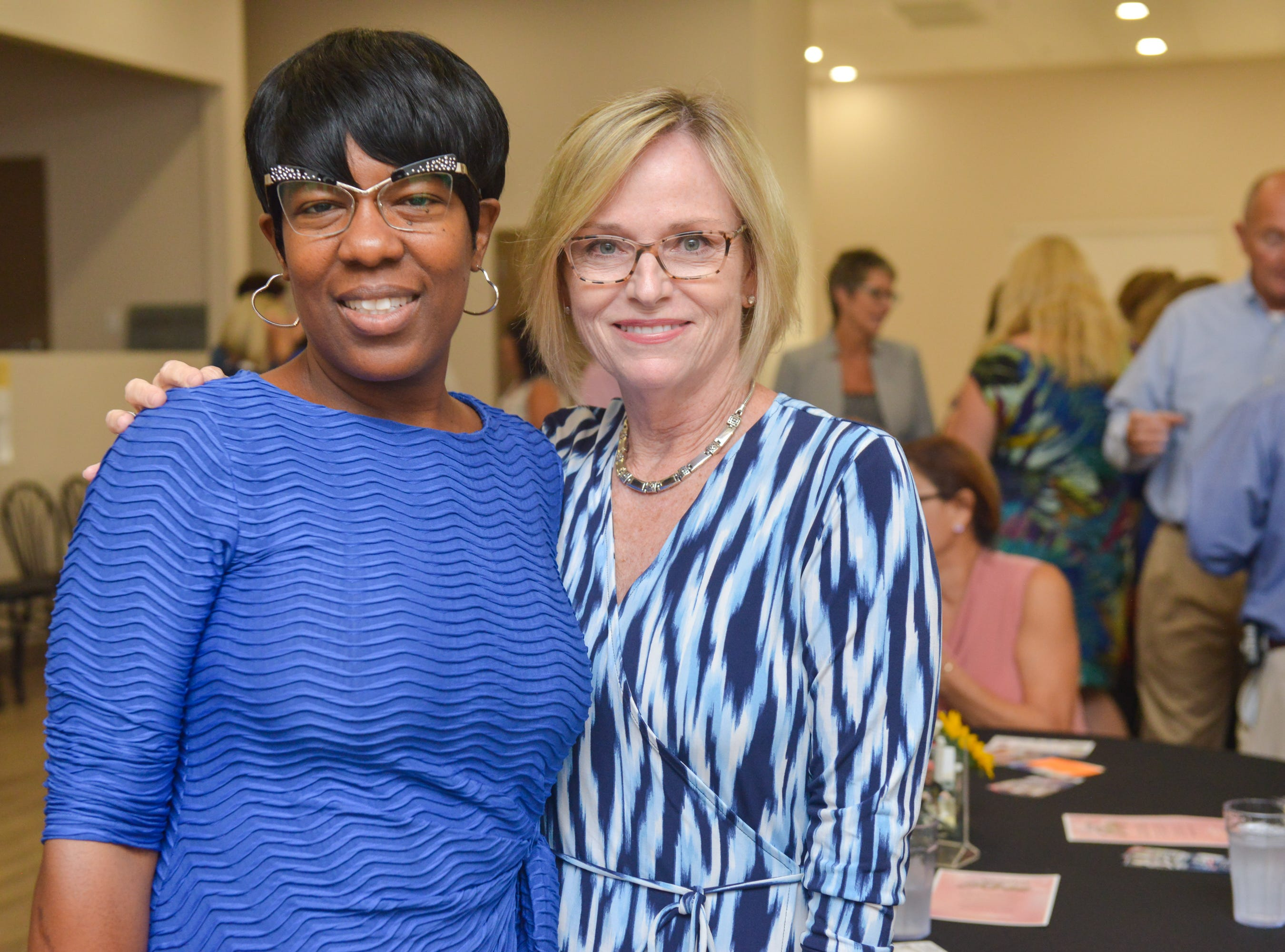 Kim Trosper and Susan Erickson during the Women of Excellence Gathering at Promise in Brevard sponsored by the Melbourne Regional Chamber.