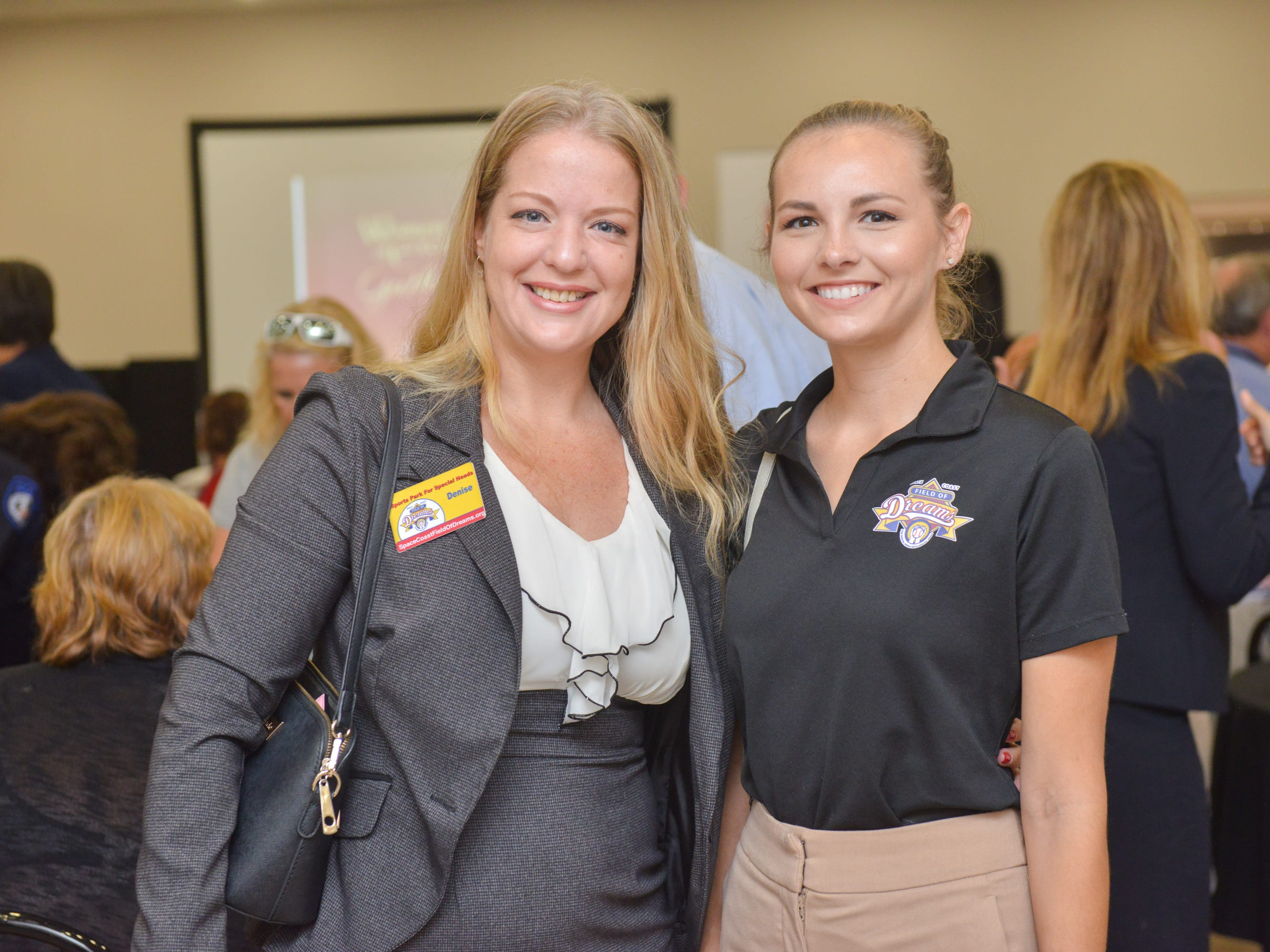 Denise Brockway and Alie Hunt during the Women of Excellence Gathering at Promise in Brevard sponsored by the Melbourne Regional Chamber.