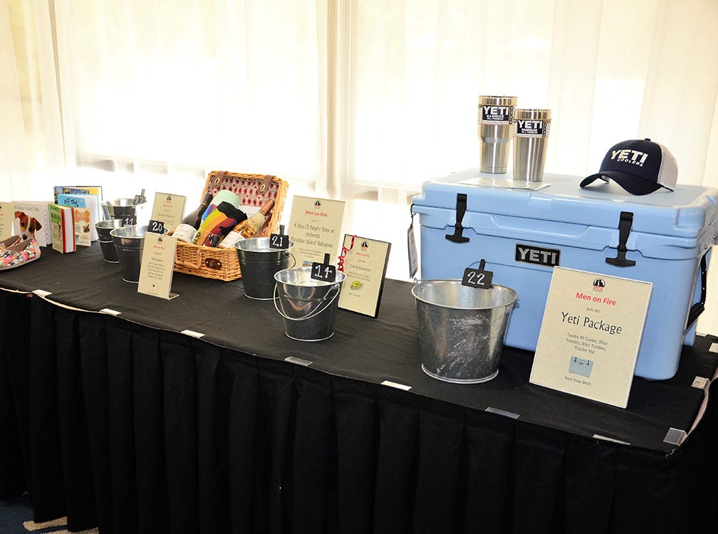 Some lucky folks were going to win these items up for auction to benefit the SPCA during their Men on Fire event held in Melbourne Saturday evening.