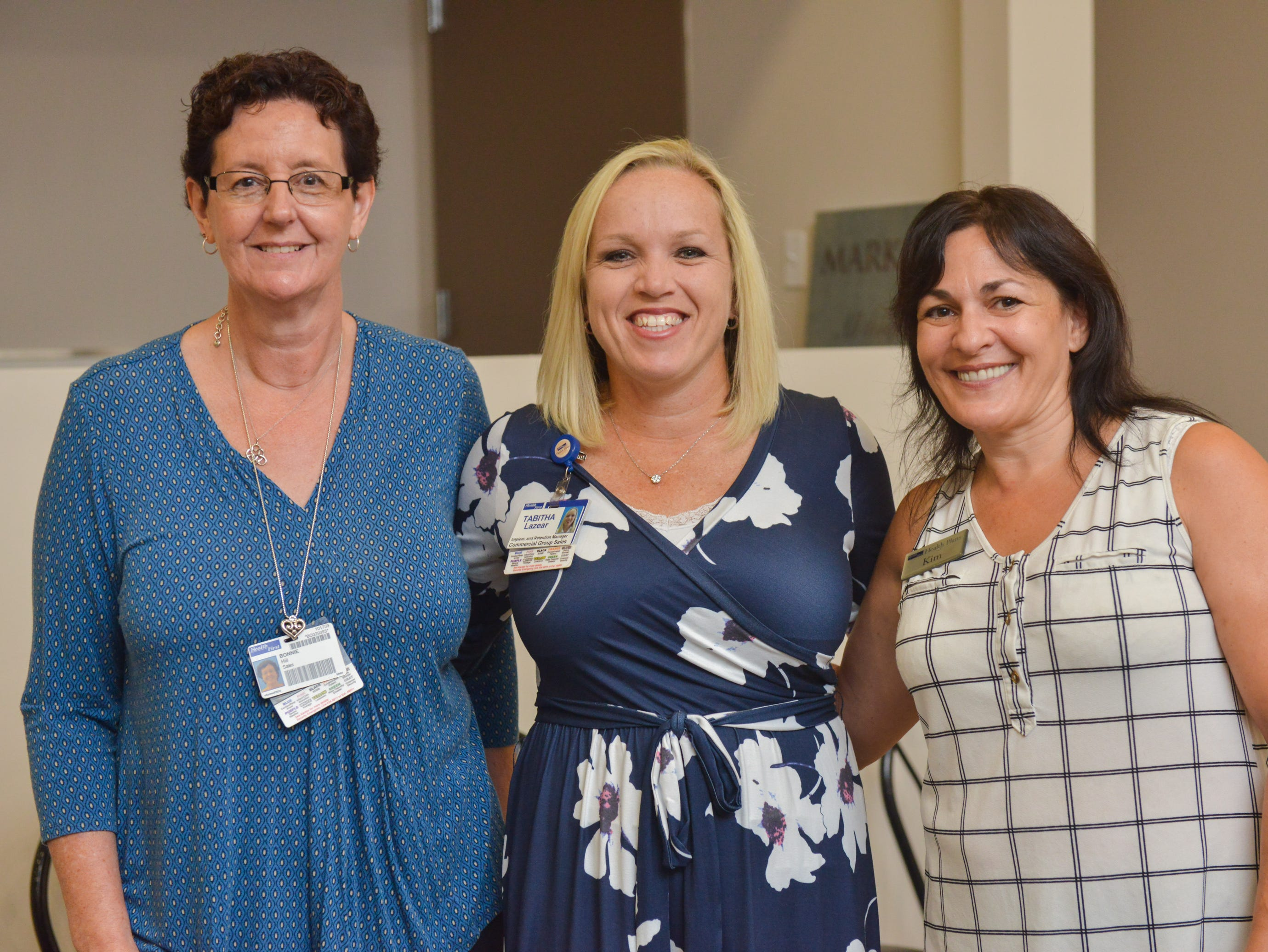 Bonnie Hill, Tabitha Lazear and Kim DelRio during the Women of Excellence Gathering at Promise in Brevard sponsored by the Melbourne Regional Chamber.