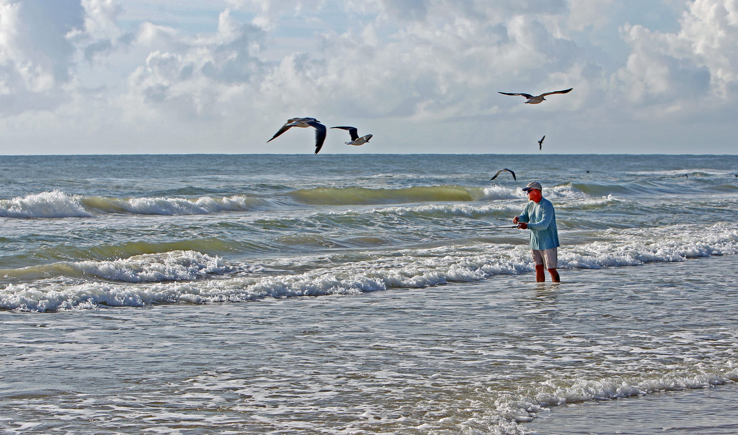 Several infectious bacteria are always present in the Gulf of Mexico.