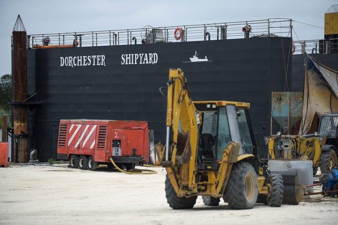 The dry dock at Dorchester Shipyard in Dorchester, N.J.