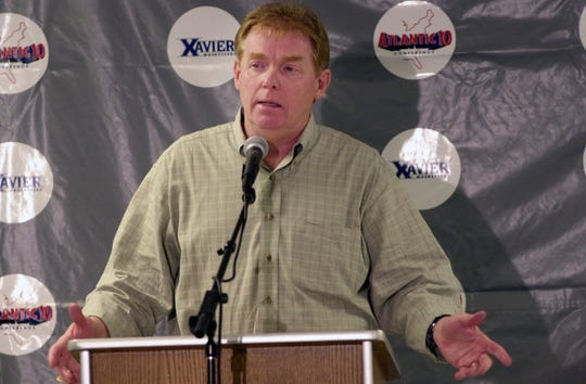 In April 2001, Skip Prosser talked to the media at Cintas Center as he resigned to talk the head coaching job at Wake Forest.
