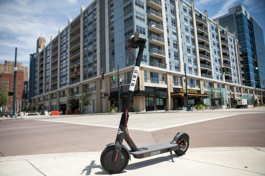 "The new ""Bird"" scooter was let loose for public use in Cincinnati on Thursday July 26, 2018. Using the app on your phone, you can rent a scooter and drop it off wherever you want."