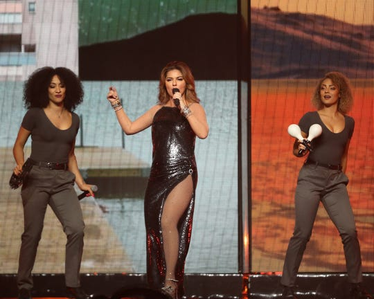Country star Shania Twain performs at Wells Fargo Arena on July 25, 2018.