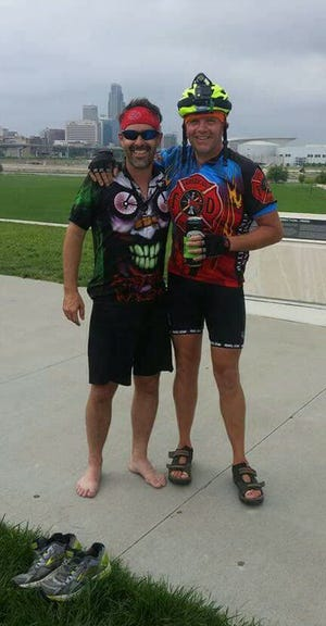 Scott Mills recounted his friendship with deceased Ames firefighter Steve Buser right before RAGBRAI went through Ames for the first time in a decade.