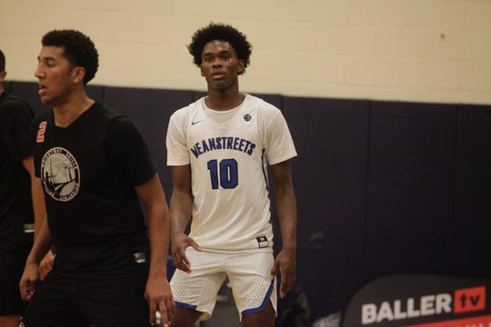 Indiana and Purdue target Brandon Newman (10) watches a teammate during the Fab 48 in Las Vegas.