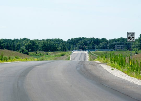 A stretch of the new Boonville Bypass that connects Millersburg Road to Indiana 62. The long-awaited bypass is set to open mid-August.