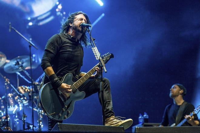 Dave Grohl will perform with Foo Fighters July 26 at Ruoff Home Mortgage Music Center.