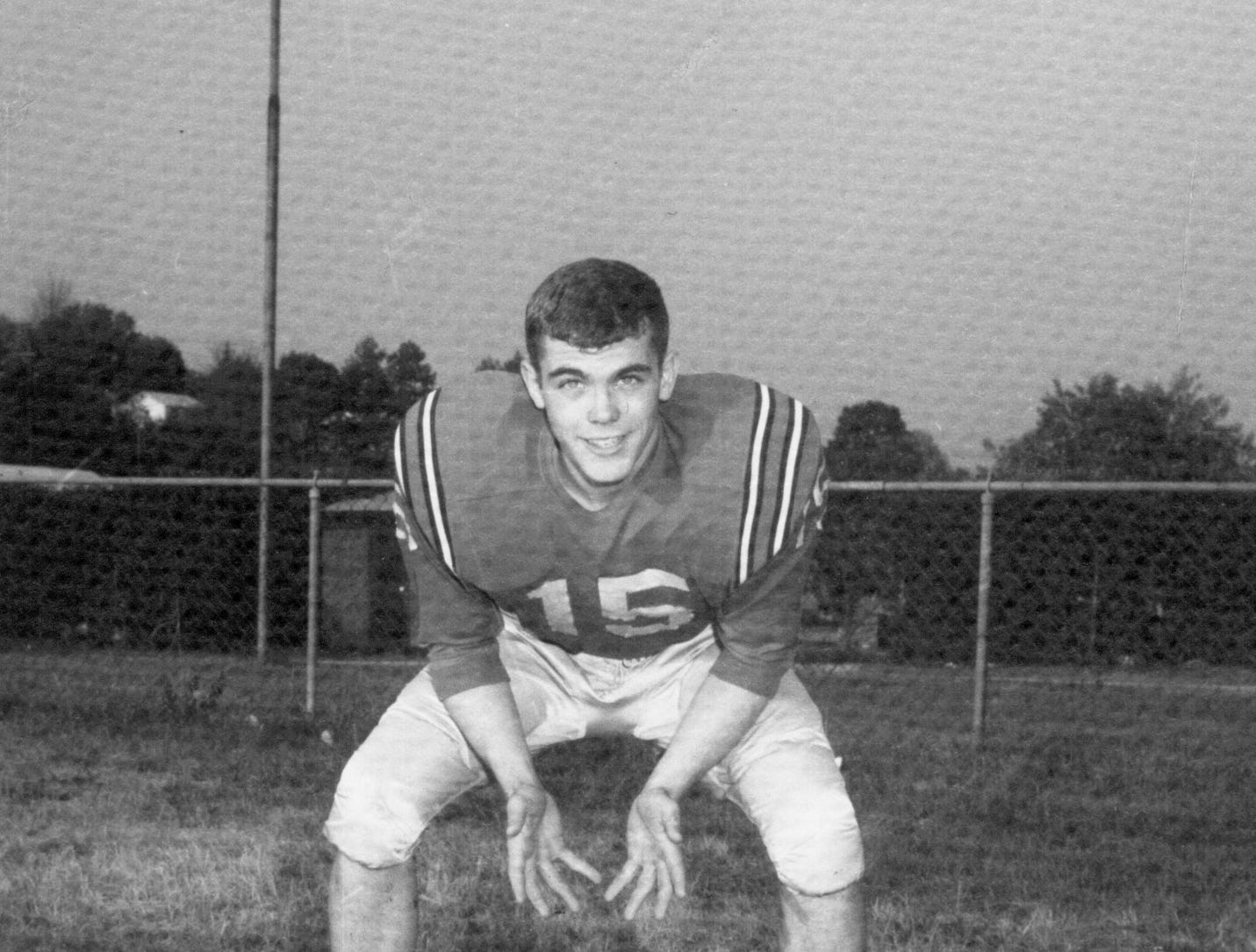 Young High School football player Sam Venable in the 1960s.