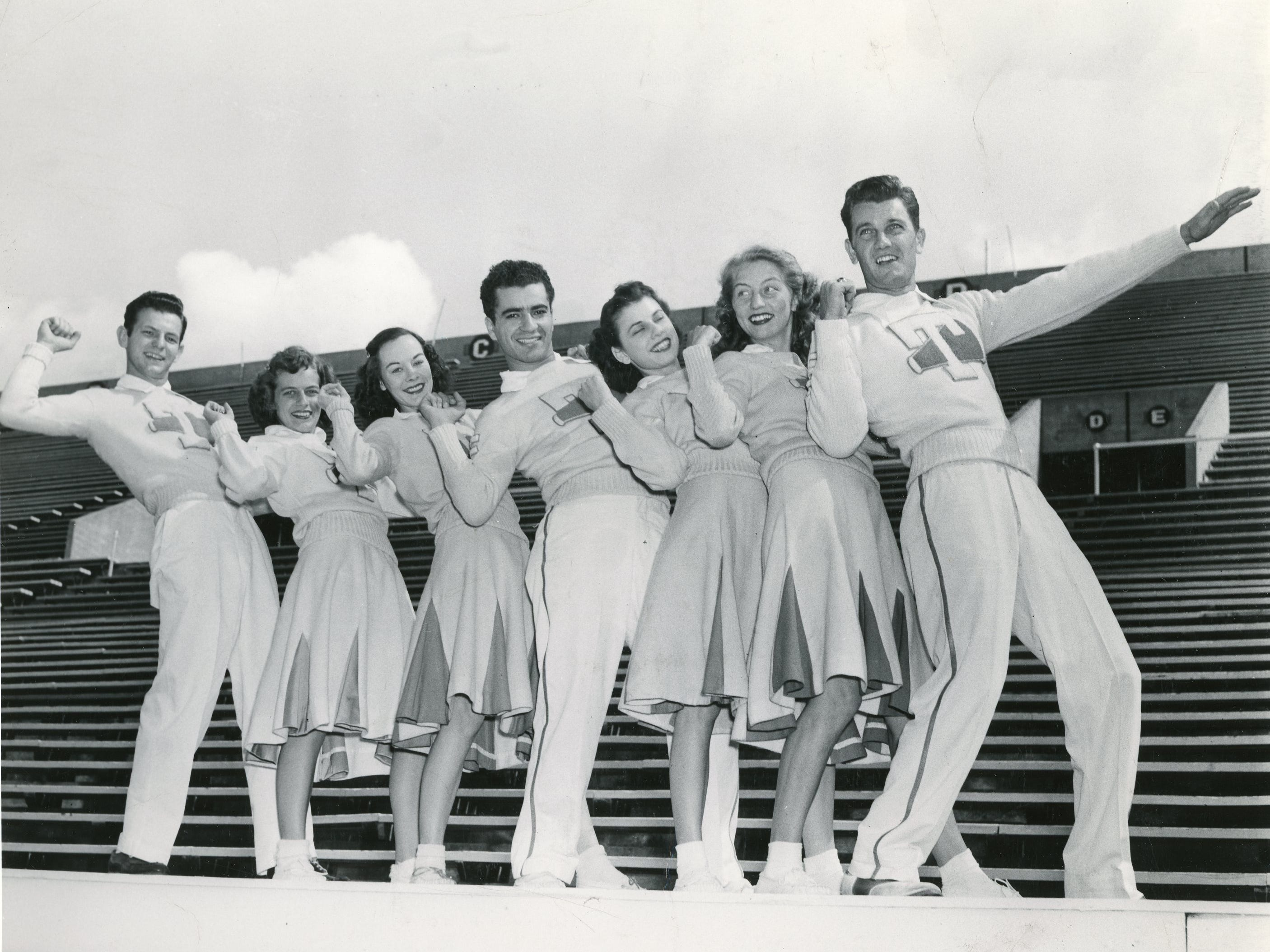 1948 University of Tennessee cheerleaders.