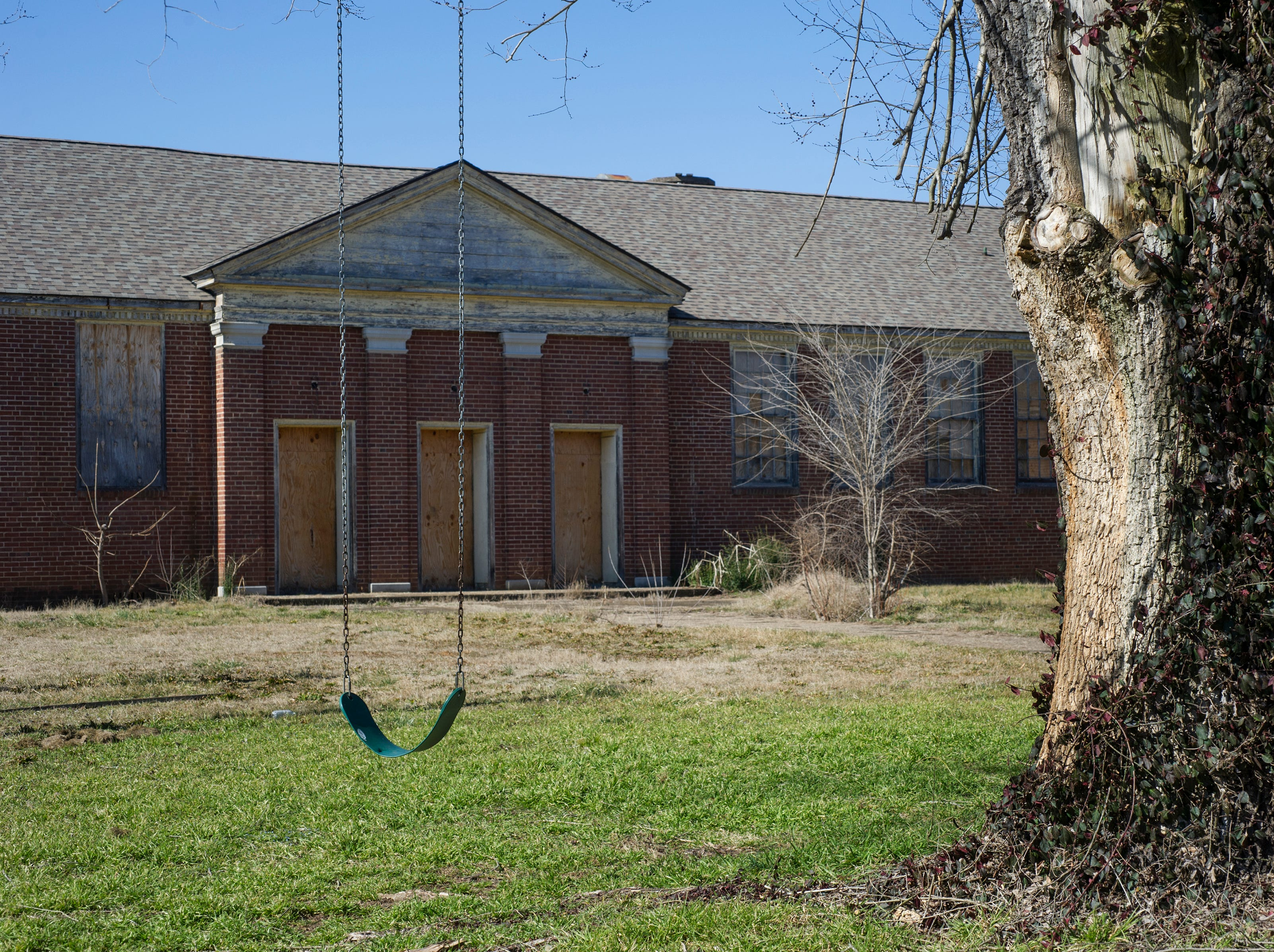 The old South High School building, pictured Wednesday, Feb. 11, 2015, could possibly be purchased by city of Knoxville, by condemnation if necessary. Bahman Kasraei, who bought the building at auction in 2008, has received numerous citations from the city and a $50,000 lien for work performed at the building. City Council on Tuesday night will consider authorizing the purchase.Wednesday, Feb. 11, 2015.