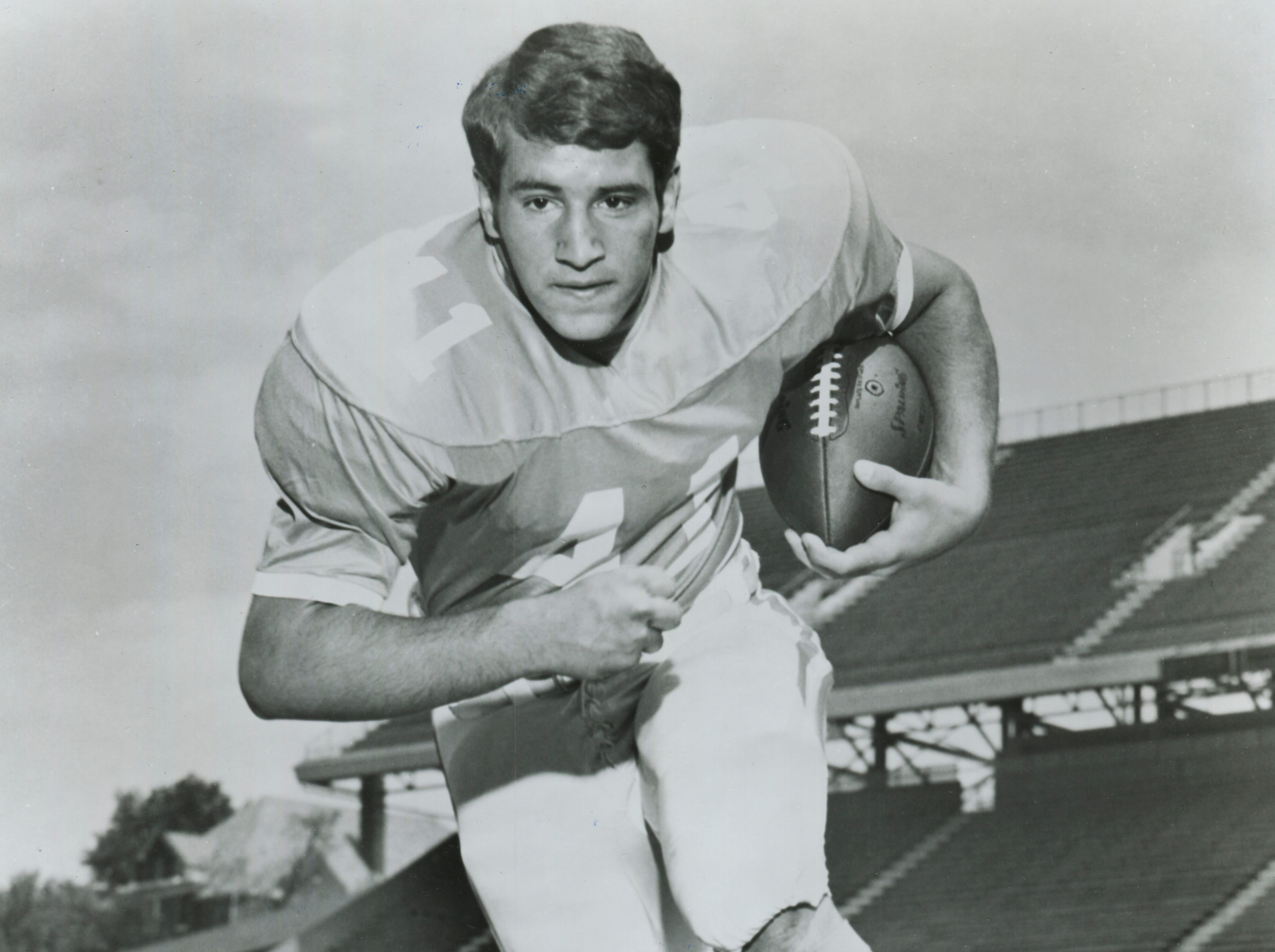 Tennessee fullback Steve Chancey is pictured in May 1972. The South High School graduate was inducted into the Greater Knoxville Sports Hall of Fame.