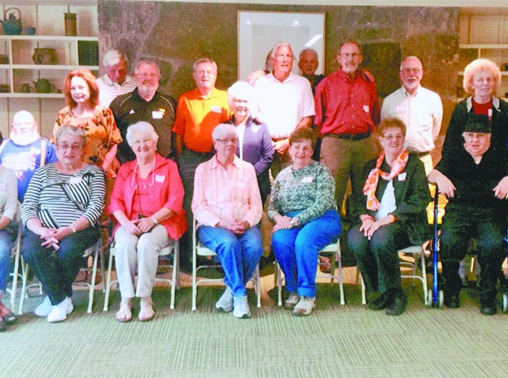 Contributed Photo The South High School class of 1960 held their 55th reunion at Ijams Nature Center. Those who attended the event include Judy Kay Daughtery Clark, Nancy Easley Faussone, Brenda Weaver Smith, Anna Mae Mynatt Concord, Mary Carolyn Hammond Kidd, Sylvia England Spunking, Sharon Cay Shular, Gordon Williams, Lois Bradford Williams, Ann Bell Jones, Nick Zurcher, Roger Lewis, Helen Williams Rose, Jim Wallin, Bill Bozeman, Mary Alice Hall Bozeman, Buddy Howard, Dave Lettle, Robbie Houchins Krepleon, Arthur Ovenby and Jack Maples. 2016