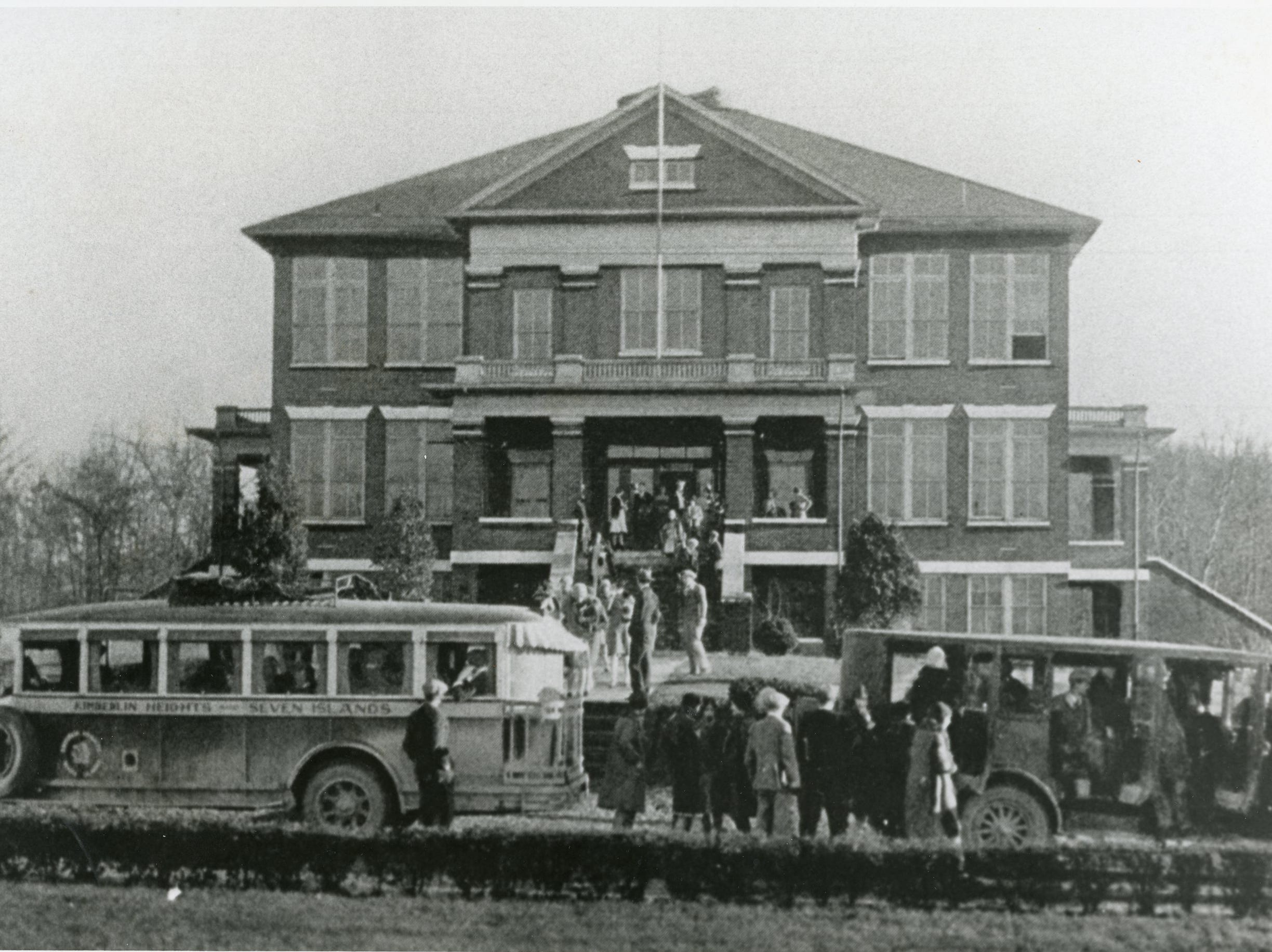 "The ""original"" Young High School in an undated photo."