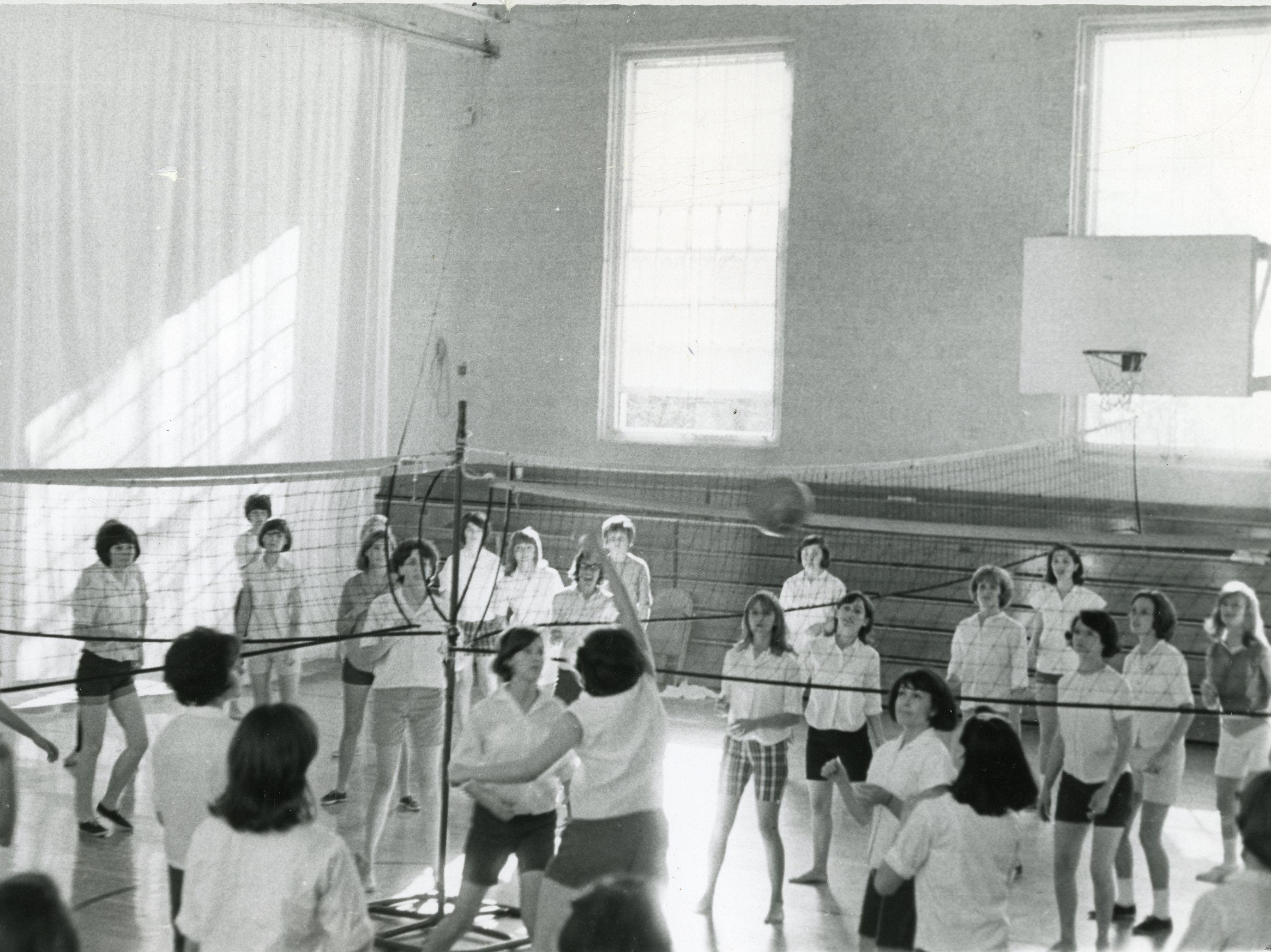 Young High School gym class, December, 1965.