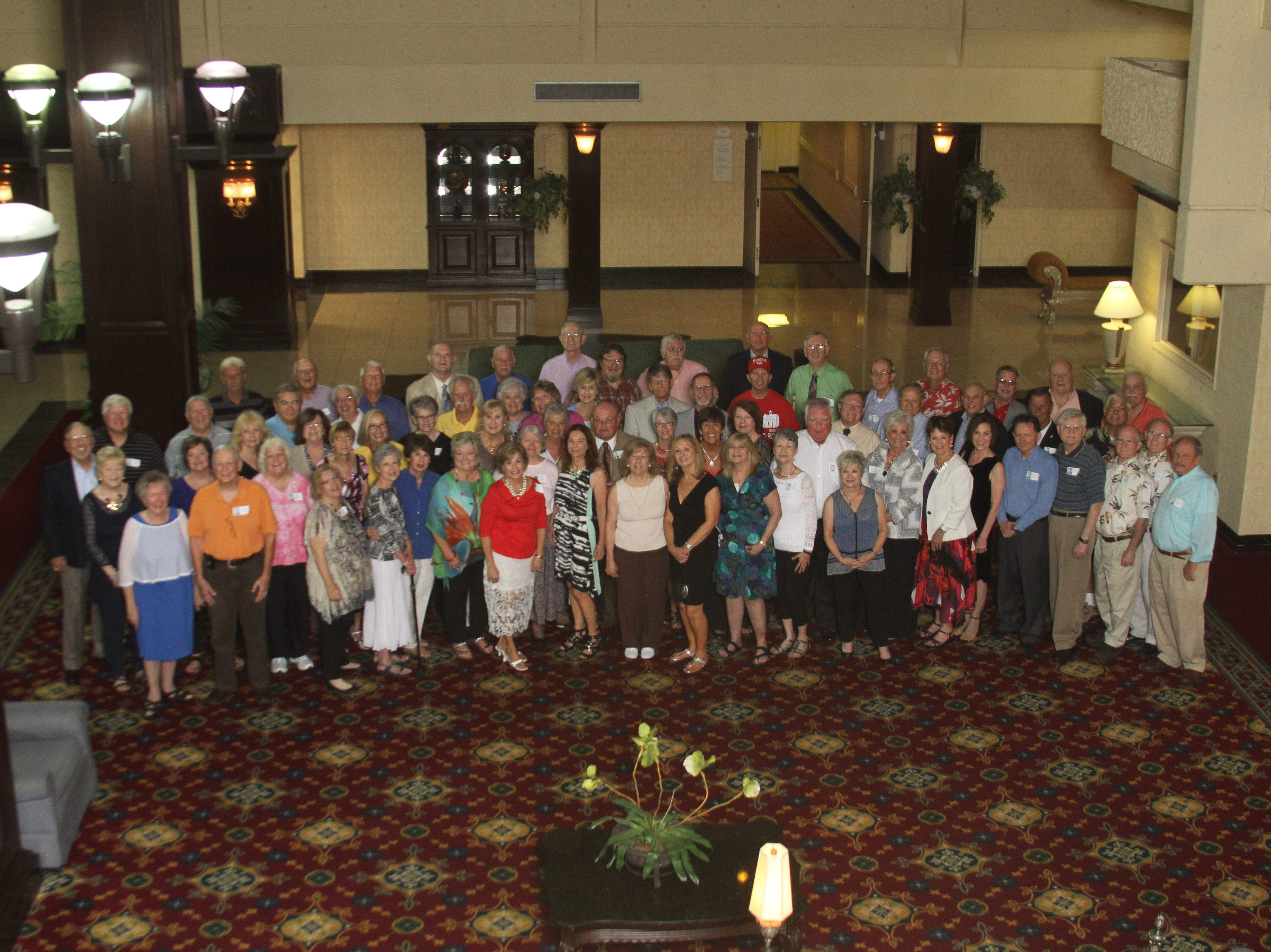 Contributed Photo The South High School Class of 1965 celebrated the milestone 50th-year reunion with classmates at the Knoxville Marriott. Bill Young, local coach and educator, was the master of ceremonies at the sit-down dinner for 130 people in the hotelís ballrooms. Young welcomed and thanked seven former teachers who were the special guests of the evening and led the class down memory lane with laughter, gratitude and reverence by saluting the veterans and deceased classmates. Warm friendships were renewed by folks coming from near and far. 2015