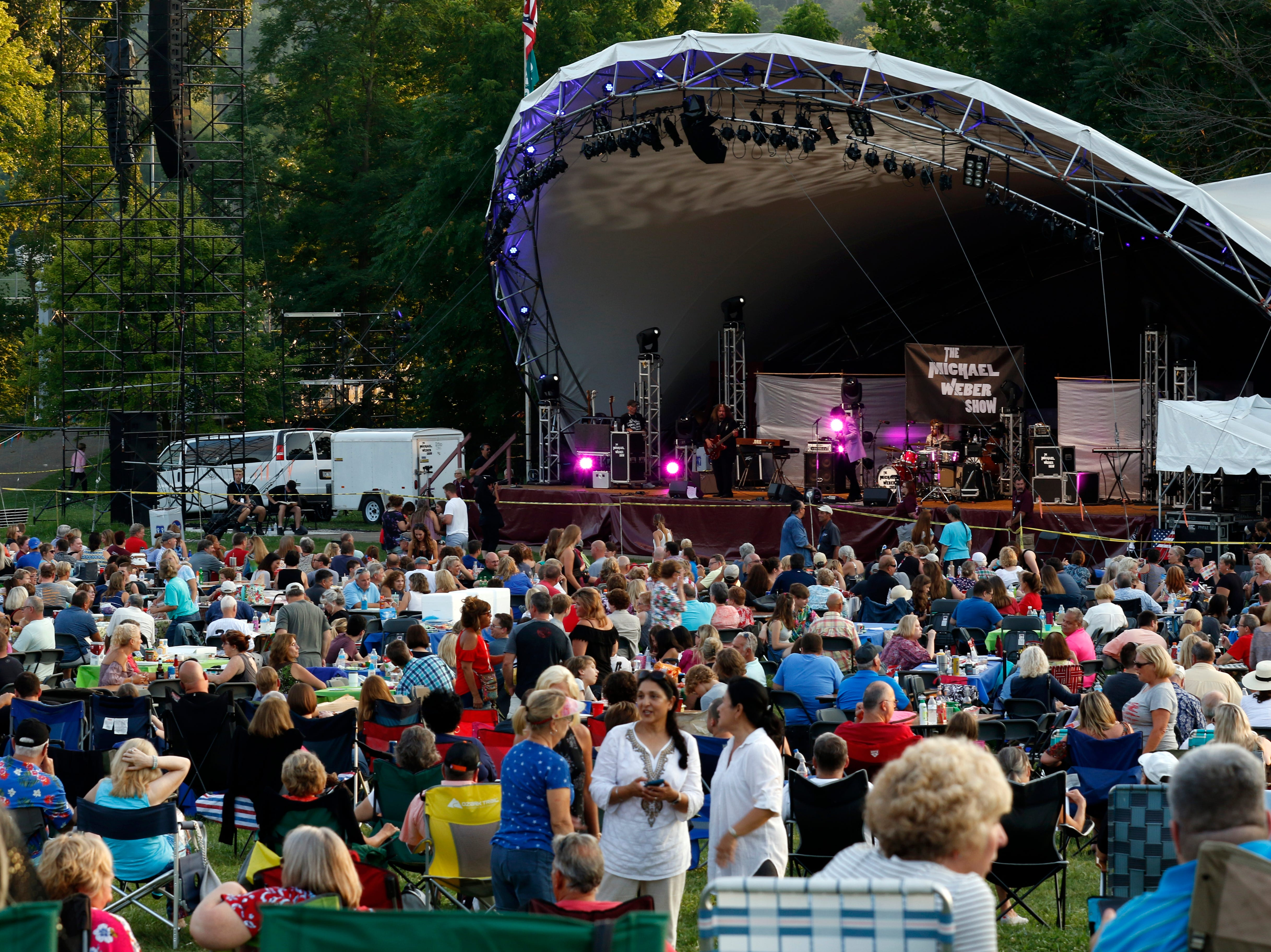 The Michael Weber Show performed Wednesday night, July 25, 2018, at the Ohio University Lancaster Wendel Concert Stage during the Lancaster Festival in Lancaster.