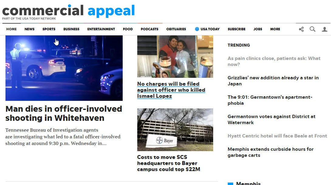 Commercial Appeal launches new look today