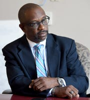 Kirk Hatcher, Democratic nominee for House District 78, discusses the election and his future Thursday, July 26, 2018, in Montgomery, Ala.