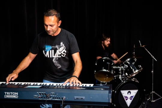 Keyboardist Dilyan Bogdanov performs with his band Perfect Sequence at the Naples Daily News studio on Wednesday, July 25, 2018.