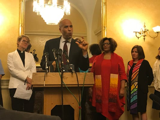 Cory Booker speaks to liberal religious leaders