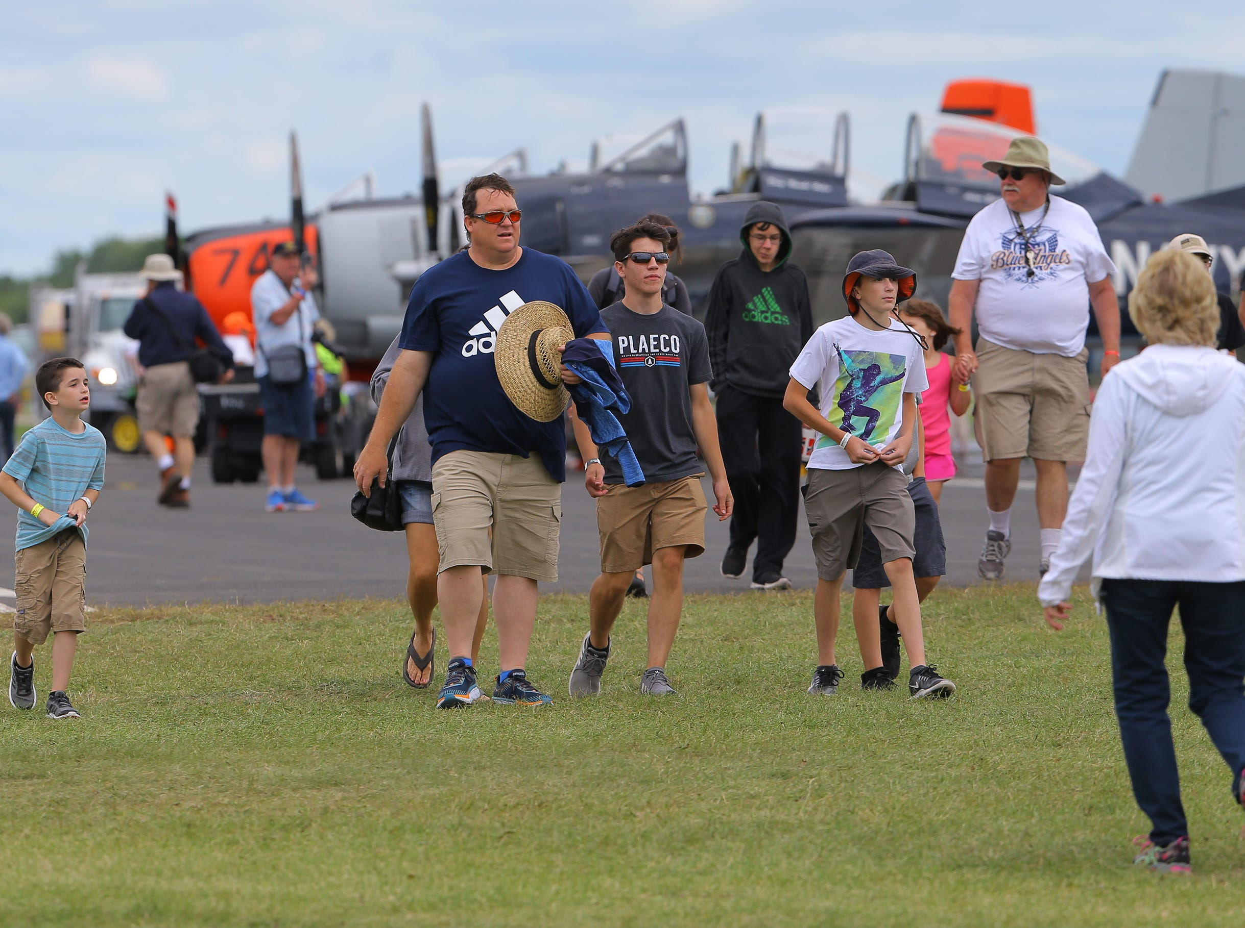 Warbirds are a popular attraction, Thursday, July 26, 2018, in Oshkosh, Wis.  The 66th annual Experimental Aircraft Association Fly-In Convention, AirVenture 2018 draws over 500,000 people and over 10,000 planes from more than 70 nations annually to the area.  The convention runs through July 29.Joe Sienkiewicz/USA Today NETWORK-Wisconsin