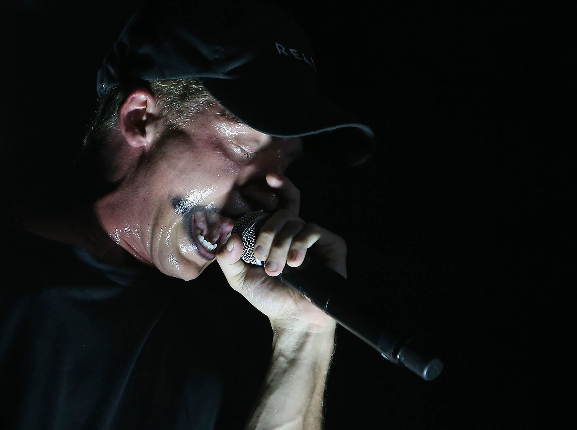 NF opens for Logic during The Bobby Tarantino vs Everybody Tour at Ak-Chin Pavilion in Phoenix on Wednesday, July 25, 2018.