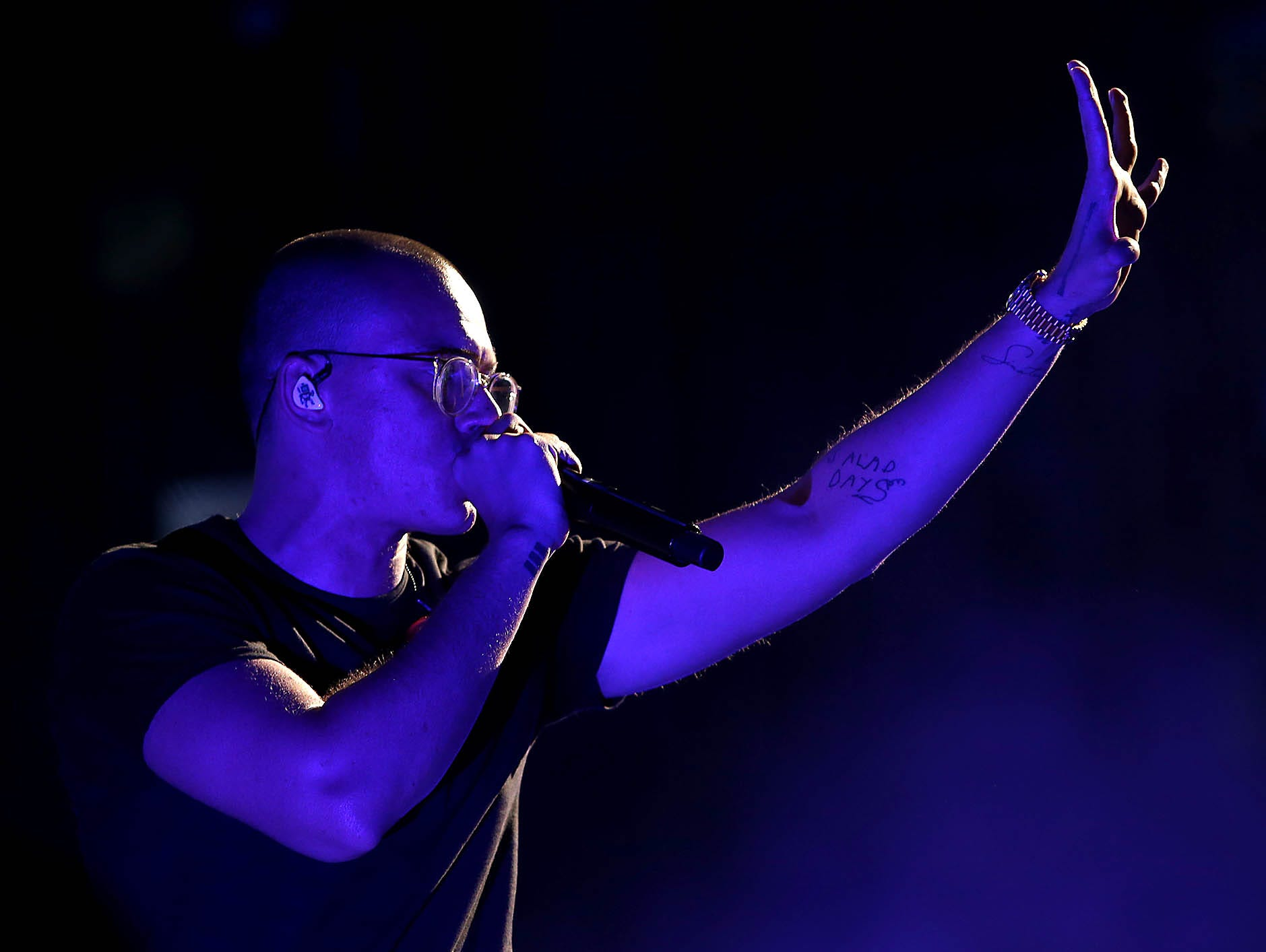 Logic performs during The Bobby Tarantino vs Everybody Tour at Ak-Chin Pavilion in Phoenix on Wednesday, July 25, 2018.